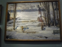 WLA brooklynmuseum George Wesley Bellows A Morning Snow Hudson River 4