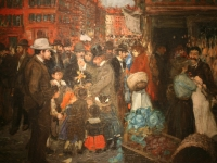 WLA brooklynmuseum Street Scene by George Benjamin Luks