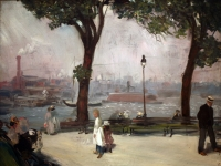 WLA brooklynmuseum William Glackens-East River Park ca 1902