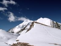 Weisshorn and Bishorn, Walliser Alpen, gesehen aus dem Norden