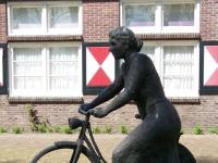 """Westerbork-K   """"De Wijkverpleegster"""" (the nurse) by Bert Kiewiet, Westerbork, 1992iewiet-01"""