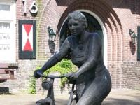 """""""De Wijkverpleegster"""" (the nurse) by Bert Kiewiet, Westerbork, 1992"""