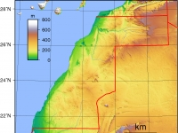 Topografie der Westsahara