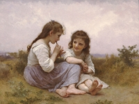 William-Adolphe_Bouguereau_(1825-1905)_-_A_Childhood_Idyll_(1900)