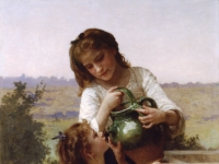 William-Adolphe_Bouguereau_(1825-1905)_-_At_The_Fountain_(1897)