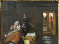 Woman with a Child and a Maid in an Interior, by Pieter de Hooch (1629-1684) - IMG 7342