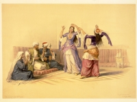 Youth_dance_in_Cairo-_David_Roberts
