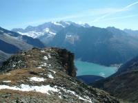 Blick auf den Hochfeiler, den höchsten Berg der Zillertaler Alpen