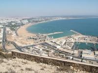 Agadir: Sicht auf Hafen und Strand