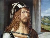 Albrecht Dürer: Selbstportrait mit Landschaft (Madrider Selbstportrait)