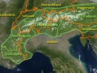Alpen Karte