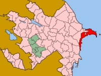 Karte von Aserbaidschan mit Baku