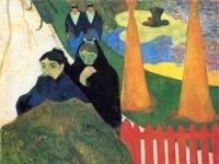 Frauen im Garten des Krankenhauses in Arles