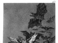 """Francisco Goya: """"Caprichos"""", Platte 43 (Titel: Der Schlaf der Vernunft gebiert Ungeheuer)"""