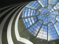 The dome in the big rotunda in the Guggenheim Museum, New York