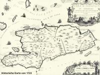 Historische Karte von 1723