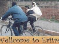 Ziege und Fahrrad