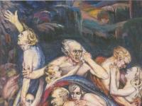 """Aksel Waldemar Johannesen, """"Ohne Frieden"""", Öl auf Leinwand, 285 x 205 cm, Privatbesitz, Oslo"""