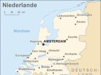 Politische Karte der Niederlande