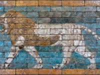 Passing lion