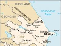 Karte von Aserbaidschan mit Städten