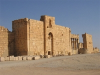 Gate of the fortified Temple of Bel