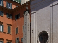 Berninis Elefant vor Santa Maria sopra Minerva, aufgestellt 1667. (auch: Obelisco della Minerva)