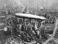 USS Los Angeles airship over Manhattan