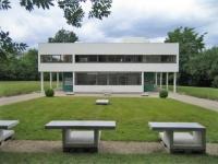 Villa Savoye: Frontale Ansicht der Fassade