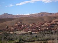 Dorf im Dadestal (vallée du Dadès), Marokko