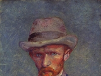 Vincent van Gogh: Selbstporträt mit grauem Hut, 1887