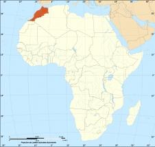 Marokkos Lage im Nordwesten Afrikas