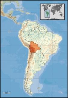 Boliviens geografische Lage