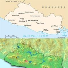 Karte von El Salvador