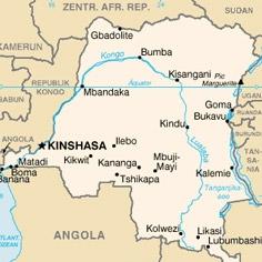 Karte von Kongo DR