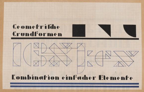 Schablonenschrift (Geometrische Grundformen)