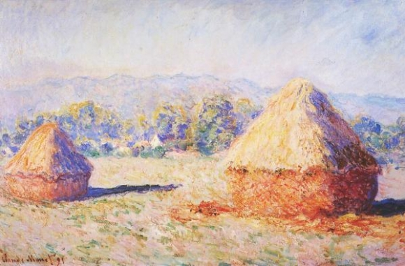 Claude Monet: Grainstacks in the Sunlight, Morning Effect (1890)