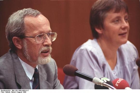 Lothar de Maiziere und Angela Merkel