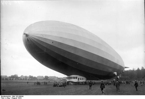 Probefahrt des Zeppelin-Luftschiffes Z.R. III (1924)