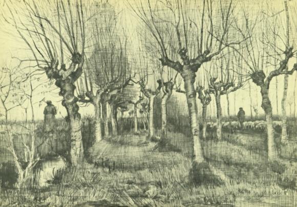 Vincent van Gogh: Kopfbirken und Schafhirt (1885)