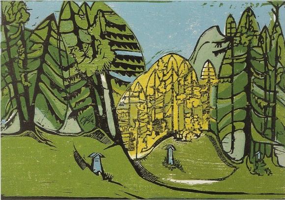 Ernst_Ludwig_Kirchner_-_Waldfriedhof_-_1933