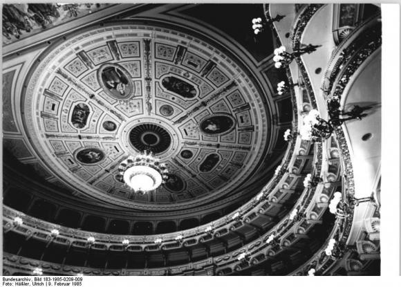 Dresden, Semperoper, Deckenmalerei (9 February 1985)