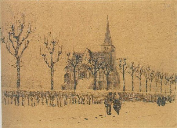 Landscape_with_a_church_-_Vincent_van_Gogh_-_dec_1883_-_F1238_JH435
