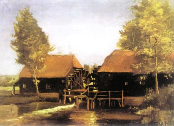 Vincent van Gogh: Wassermühle in Urkhoven (1884)