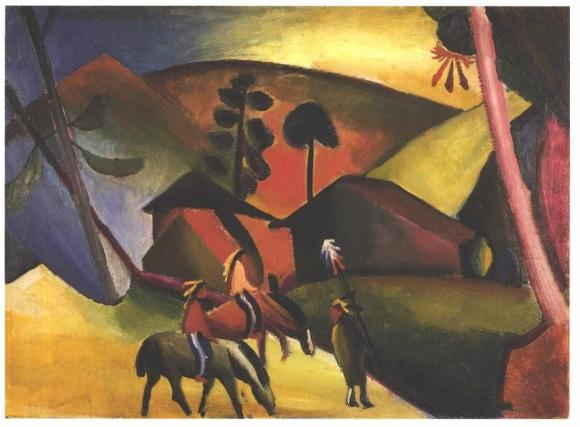 Macke_-_Indianer_auf_Pferde