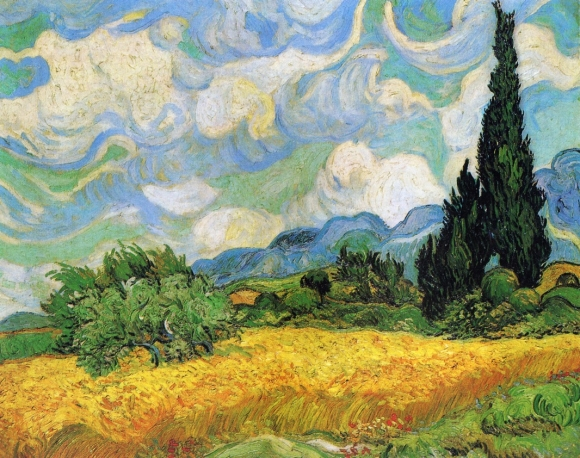 Vincent van Gogh: Getreidefeld mit Zypressen (1889)