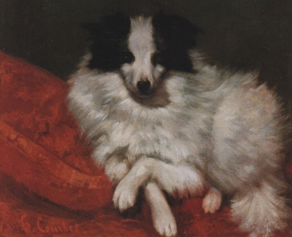 Courbet_Sitzender_Hund_auf_Kissen