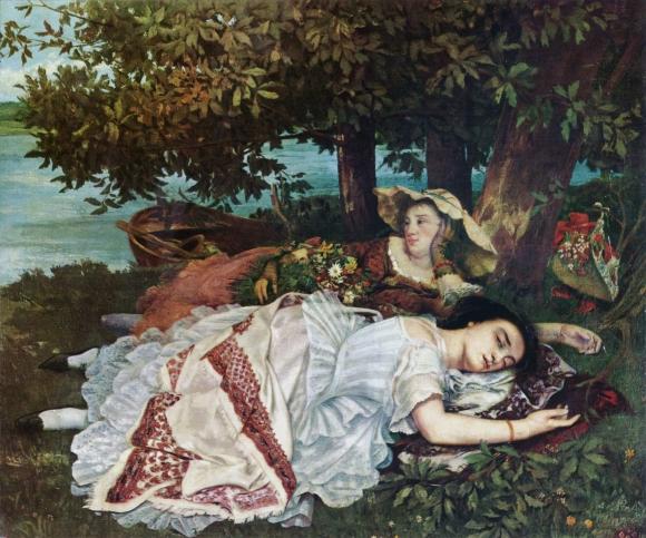 Mädchen an der Seine (1856)