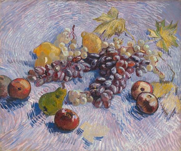 Vincent van Gogh: Stilleben mit Trauben, Äpfel, Zitronen und Birne (1887)