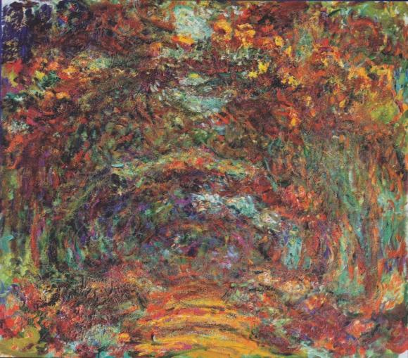 Claude Monet: Der Rosenweg in Giverny (1920-22)